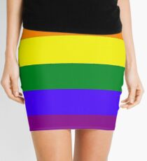 Rainbow LGBTA Flag Mini Skirt