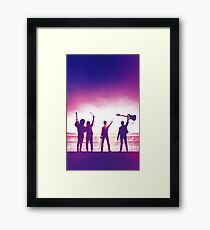 Bohemian Rhapsody (Band auf der Bühne) Gerahmtes Wandbild