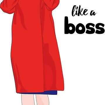 Nancy Pelosi Red Mantel und Sonnenbrille von sszampetti