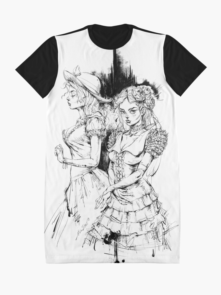 Vista alternativa de Vestido camiseta Ninfología Tadeush