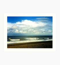 Cley Beach Art Print