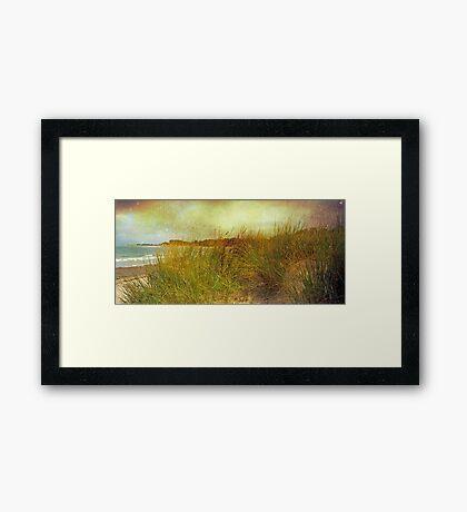 Duned -Torquay Beach Framed Print