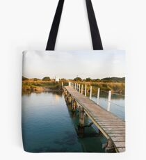 Footbridge at Prawn Rock Channel Tote Bag