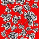 Beautiful Black Vintage Roses  by Lukasz  Czyzewski