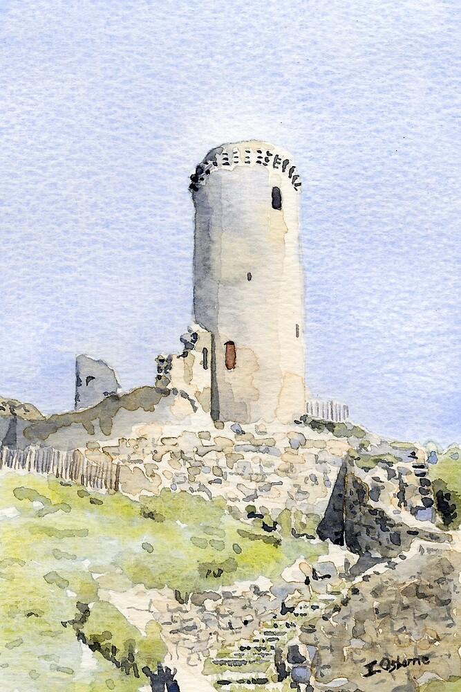 The tower at Piégut, France by ian osborne
