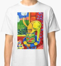 Henri Matisse, Le Chat Aux Poissons Rouges 1914, (The Cat With Red Fishes), Artwork, Men, Women, Youth Classic T-Shirt
