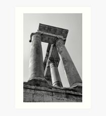 Temple of Saturn, Rome, Italy Art Print