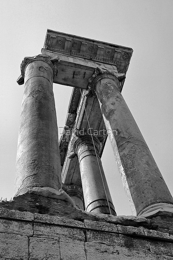 Temple of Saturn, Rome, Italy by David Carton