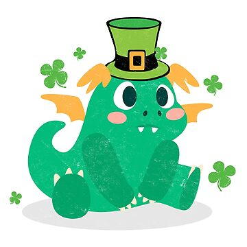 St. Patricks Day Shirt Funny Hat Green Dinosaur Novelty Gift  by arnaldog
