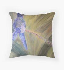 Hummingbird - pastel on paper Throw Pillow