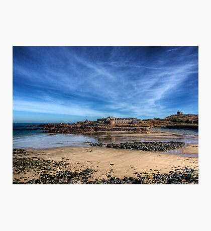 Across the bay to Fort Corblets Photographic Print