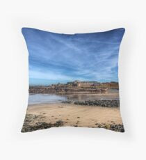 Across the bay to Fort Corblets Throw Pillow