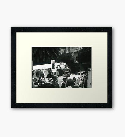 Freedom Bus Framed Print