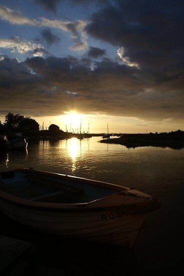 Blakeney, Norfolk...Evening Sun by scribblerjo