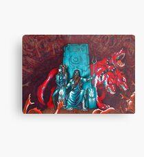 Lámina metálica Inframundo sobresaturado - Hades, Persephone y Cerberus