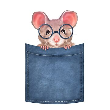 Mouse in pocket by Gribanessa