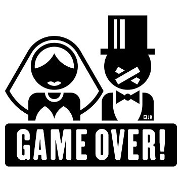 Game Over! (Groom / Stag Party / Future Hubby / Black) by MrFaulbaum