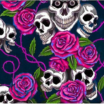 skull and roses by shoppastorm
