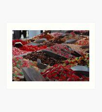 colourful sweets pick 'n' mix Art Print