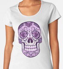 Floral Sugar Skull Totenkopf Totenschädel Day Of The Dead  Frauen Premium T-Shirts