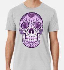 Floral Sugar Skull Totenkopf Totenschädel Day Of The Dead  Männer Premium T-Shirts