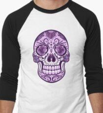 Floral Sugar Skull Totenkopf Totenschädel Day Of The Dead  Baseballshirt für Männer