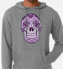 Floral Sugar Skull Totenkopf Totenschädel Day Of The Dead  Leichter Hoodie