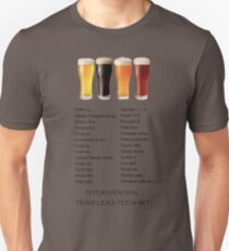 Beer in 26 Languages for Internationional Travelers T-Shirt