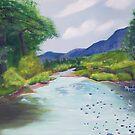 Creekside ~ Southwestern Spring Landscape ~ Oil by Barbara Applegate