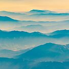 Chilean Andes Mountain Aerial View by DFLC Prints
