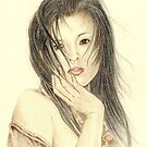"""Serina"" Colour Pencil Artwork by John D Moulton"