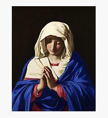 The Virgin in Prayer by Giovanni Battista Salvi da Sassoferrato Photographic Print