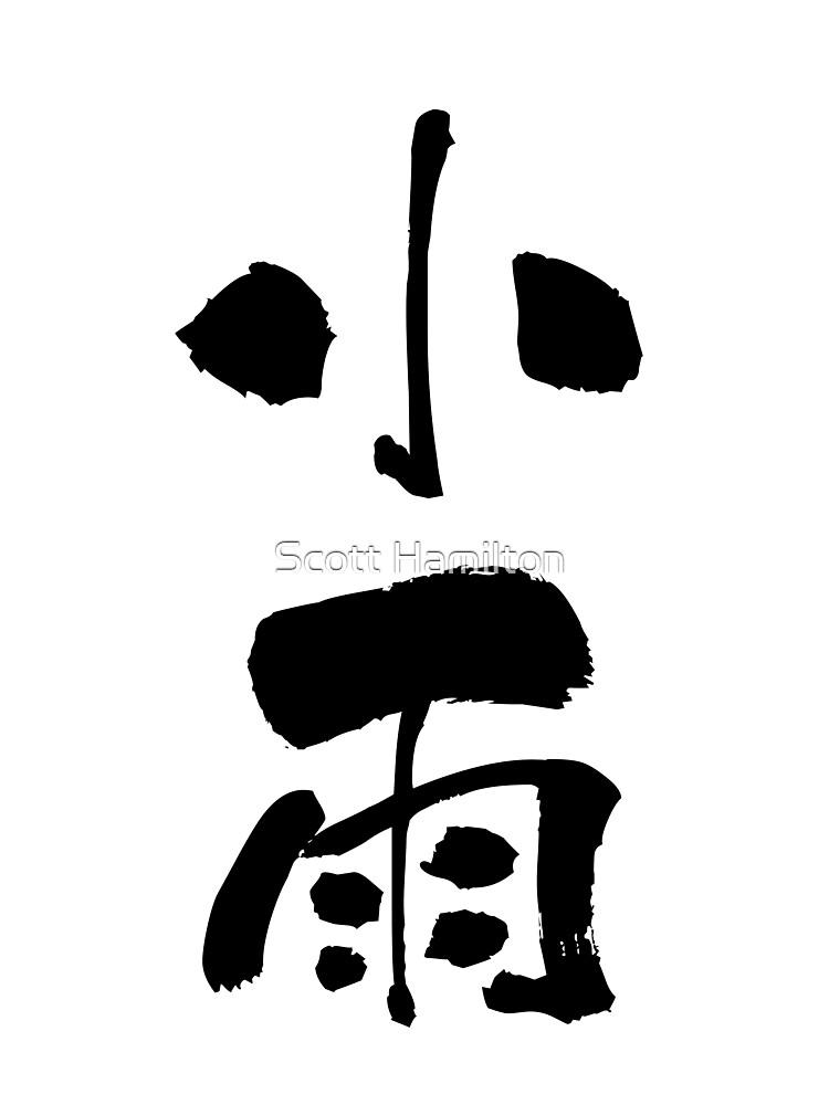 "小雨 (kosame) - ""drizzle"" (noun) — Japanese Shodo Calligraphy von djakri"