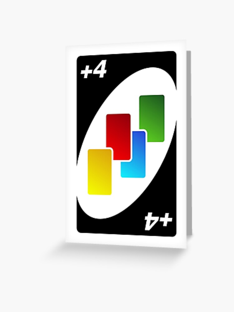 Carte Uno.Uno Plus 4 Wildcard Greeting Card