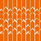 Oat Field Leafy Orange Pattern by plantita
