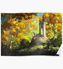 Yellow Ruins Poster