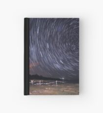Star Trails Over Lake Clifton  Hardcover Journal