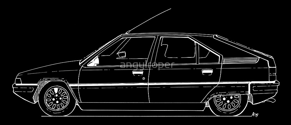 Citroen BX - white line by angylroper
