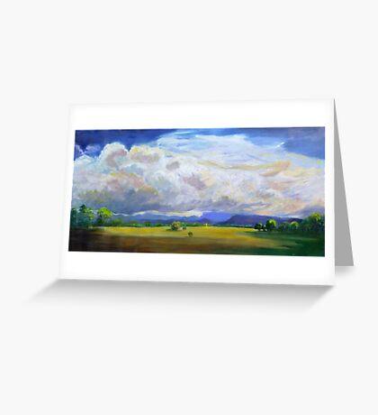 Approaching Storm over Carrara Flood Plains  Greeting Card