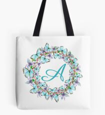 Letter A - butterfly, orchid, Alphabet, Monogram, Initial  Tote Bag