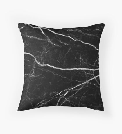 Patrón de textura de piedra de mármol negro Cojín de suelo