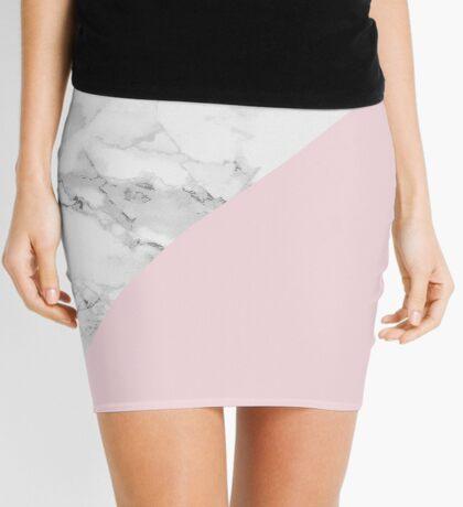Marble + Pink Pastel Color. Geometría clásica. Minifalda