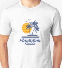 Plantation Florida Shirt FL State Home City Tourist Travel Souvenir Beach Gift Unisex T-Shirt