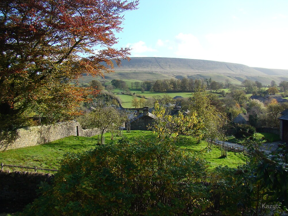 Pendle Hill from Downham by Kazytc