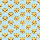 hearts cute face pattern by mellowdays