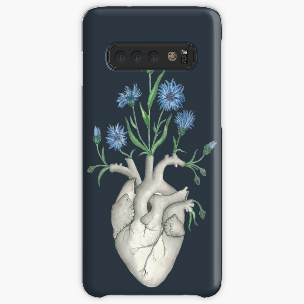 Floral Heart: Human Anatomy Cornflower Flower Halloween Gift Case & Skin for Samsung Galaxy