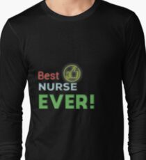 Best Nurse Ever Sticker Long Sleeve T-Shirt