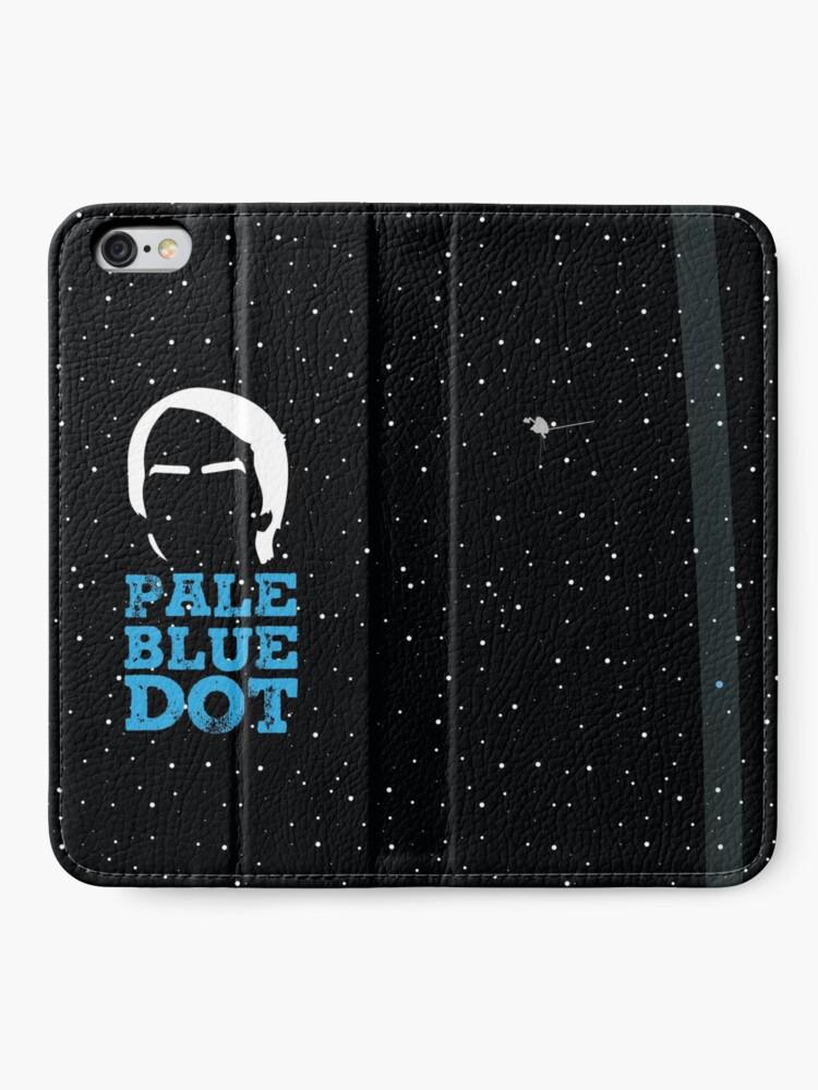 Alternative Ansicht von Hellblauer Punkt iPhone Flip-Case