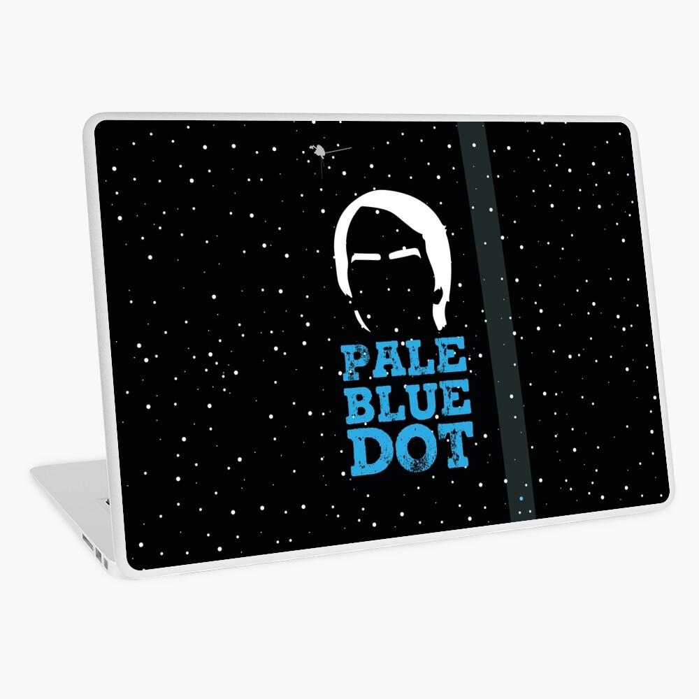 Hellblauer Punkt Laptop Folie