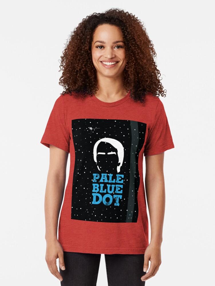 Alternative Ansicht von Hellblauer Punkt Vintage T-Shirt